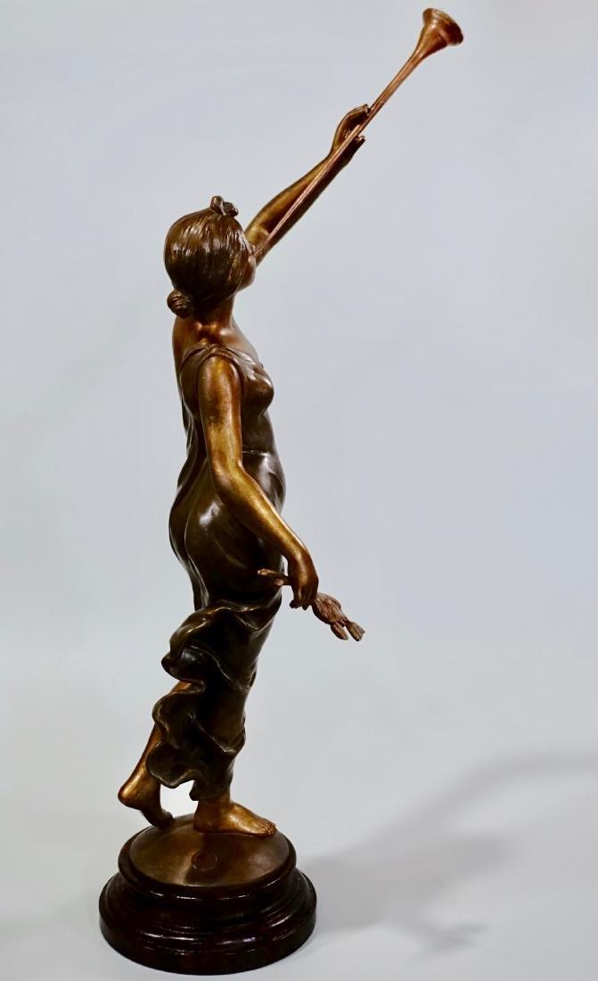 Aurora Trumpeting Figurine Bronzed Spelter After - 3