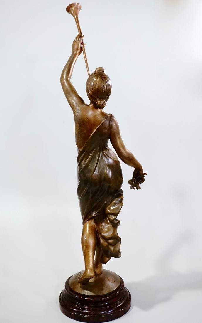 Aurora Trumpeting Figurine Bronzed Spelter After - 4