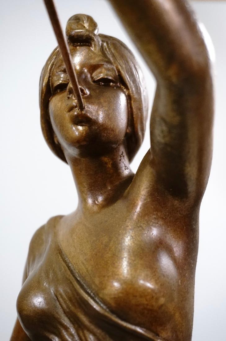 Aurora Trumpeting Figurine Bronzed Spelter After - 9
