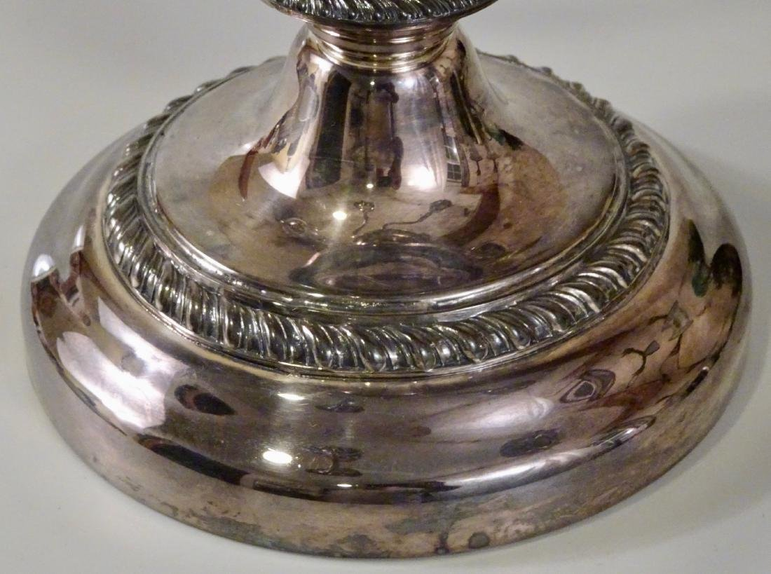 Silver On Copper Large Plated Candelabra Five Candles - 3