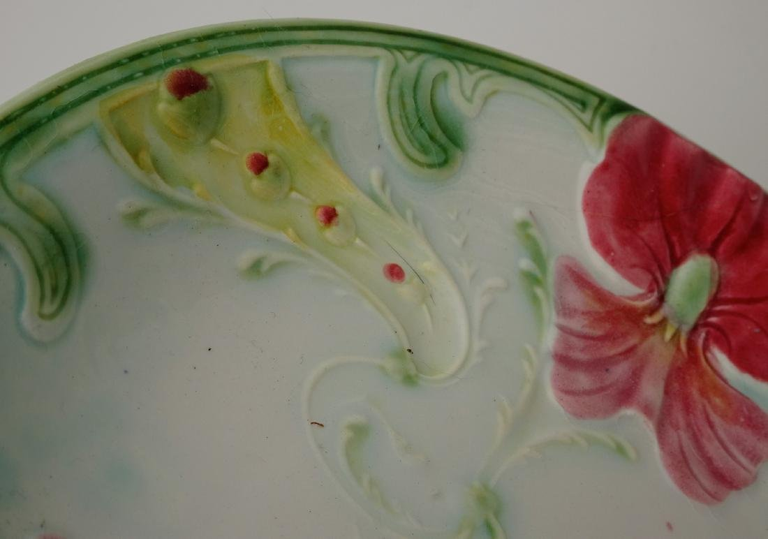 French Art Nouveau Faience Luneville Irises Majolica - 3