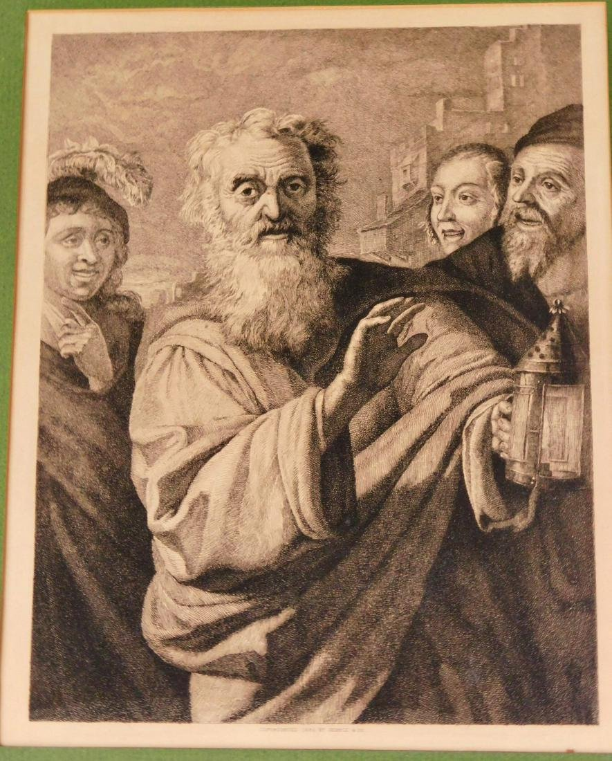 Antique 19th Century Engraving Diogenes Framed Print