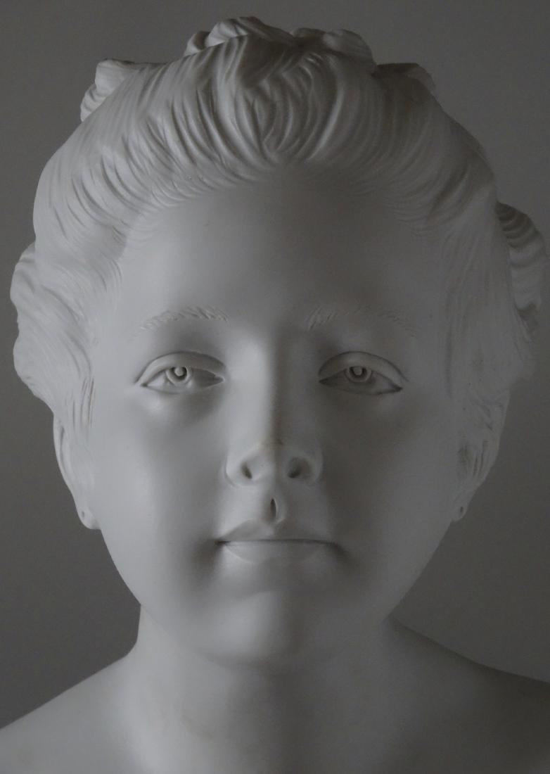 Antique French Samson Bisque Porcelain Bust Artist - 5