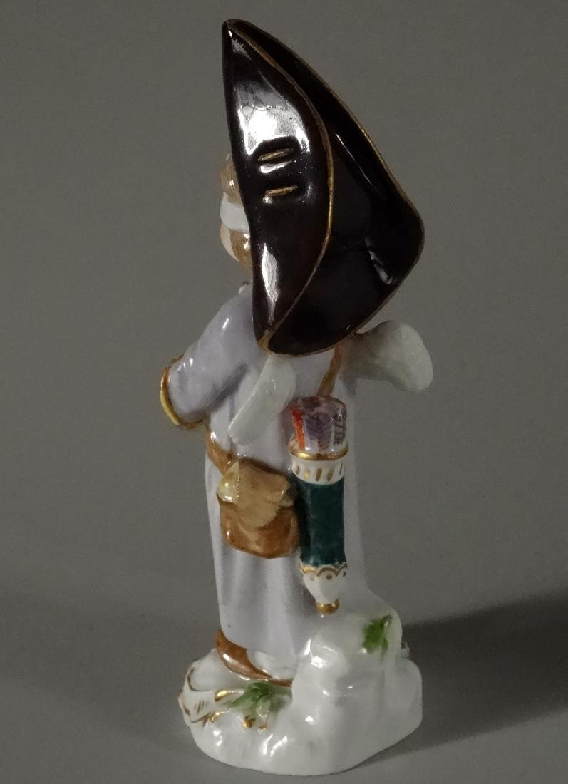 Rare Meissen Porcelain Blindfolded Angel Figurine - 3