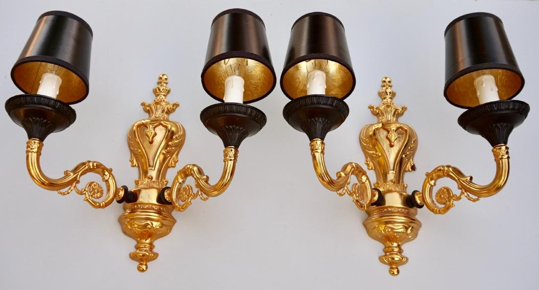 Italian Luxurious Wall Sconces Pair Antique Style - 2