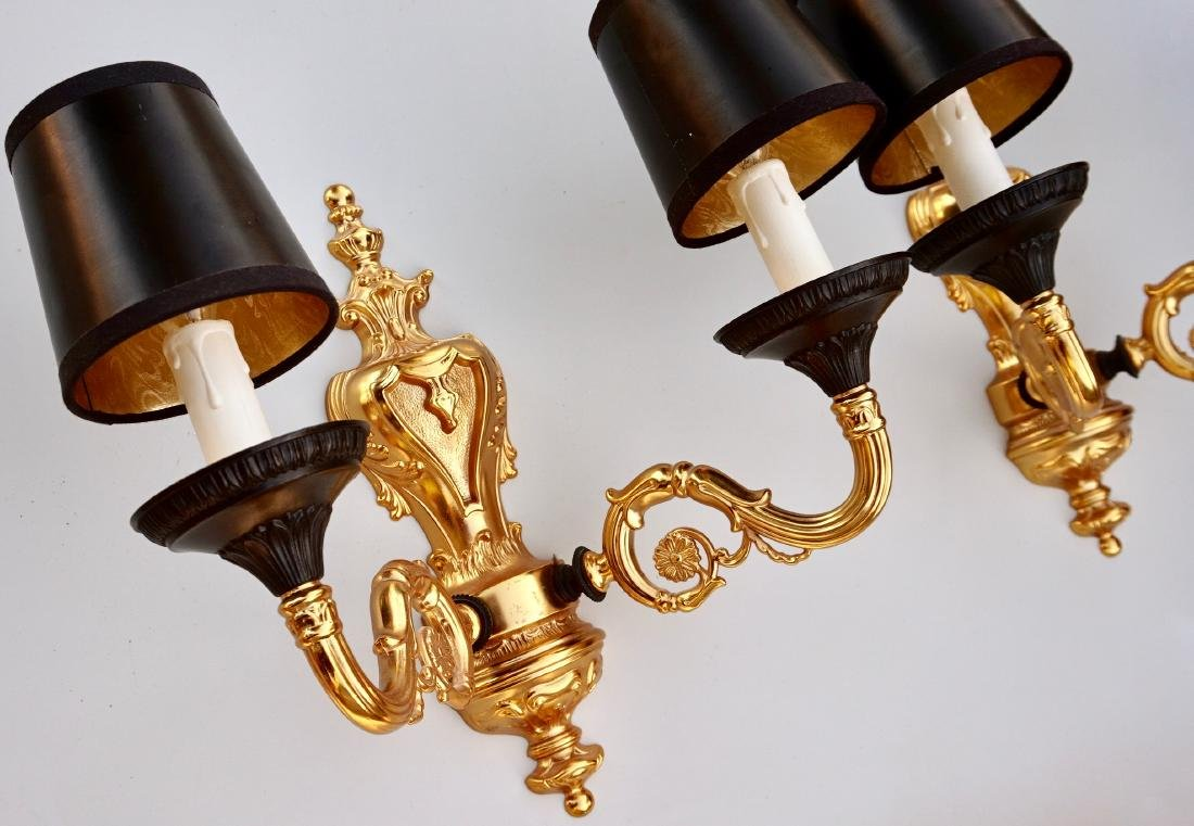 Italian Luxurious Wall Sconces Pair Antique Style - 3