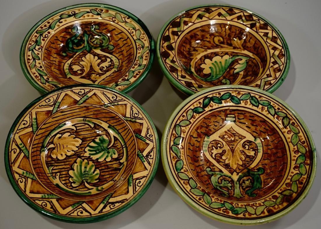 Hand Painted Italian Pottery Decorative Wall Plates Lot