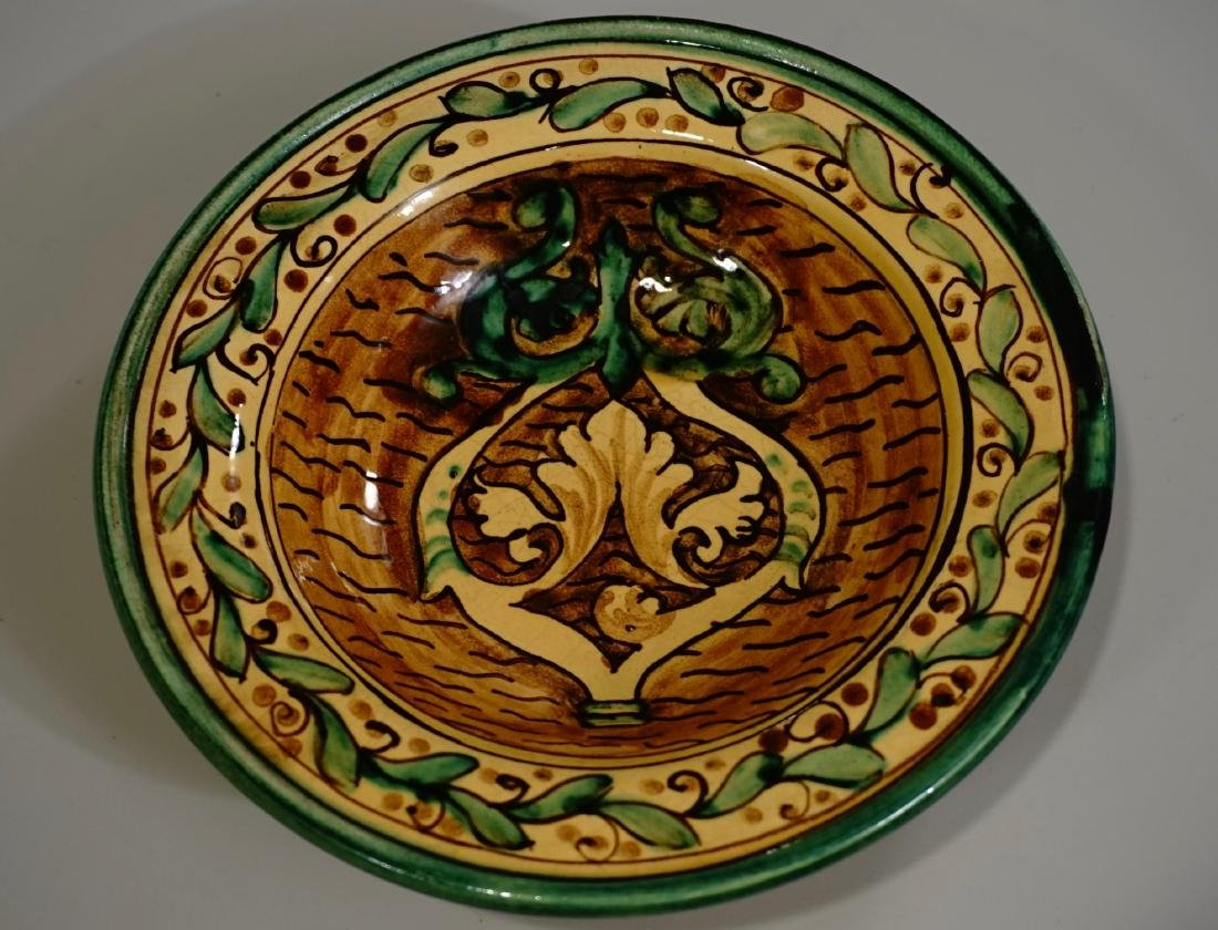 Hand Painted Italian Pottery Decorative Wall Plates Lot - 2