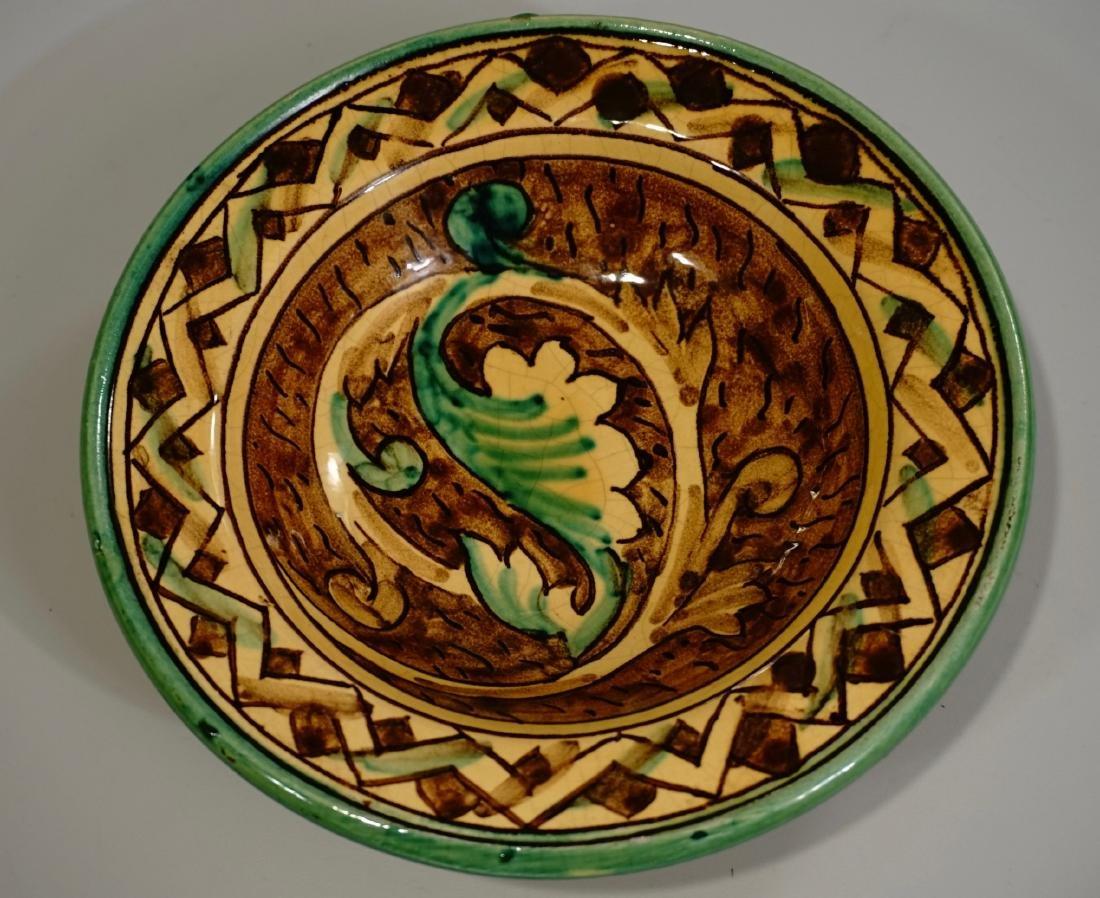 Hand Painted Italian Pottery Decorative Wall Plates Lot - 4