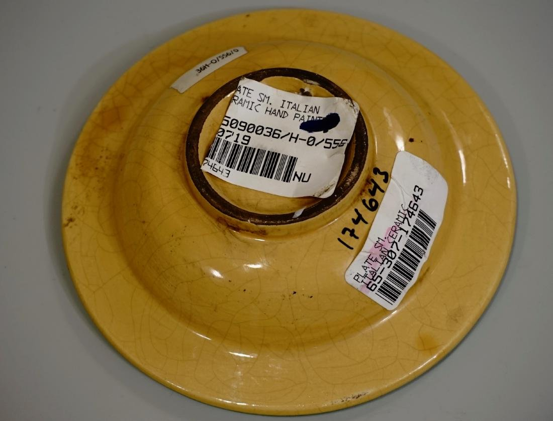 Hand Painted Italian Pottery Decorative Wall Plates Lot - 5