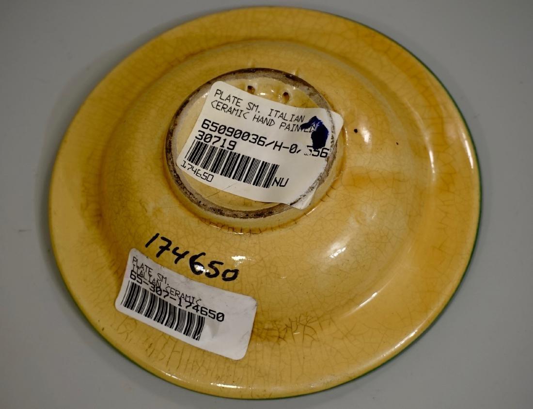 Hand Painted Italian Pottery Decorative Wall Plates Lot - 7
