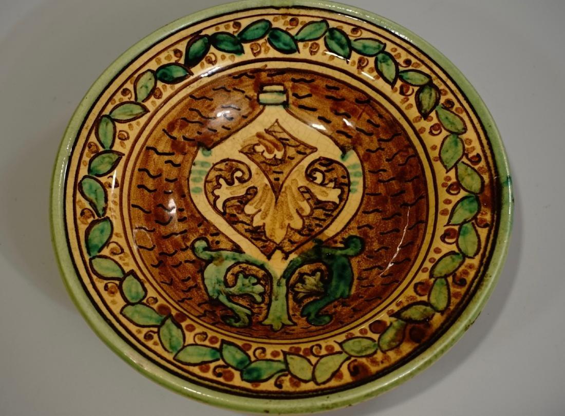 Hand Painted Italian Pottery Decorative Wall Plates Lot - 8