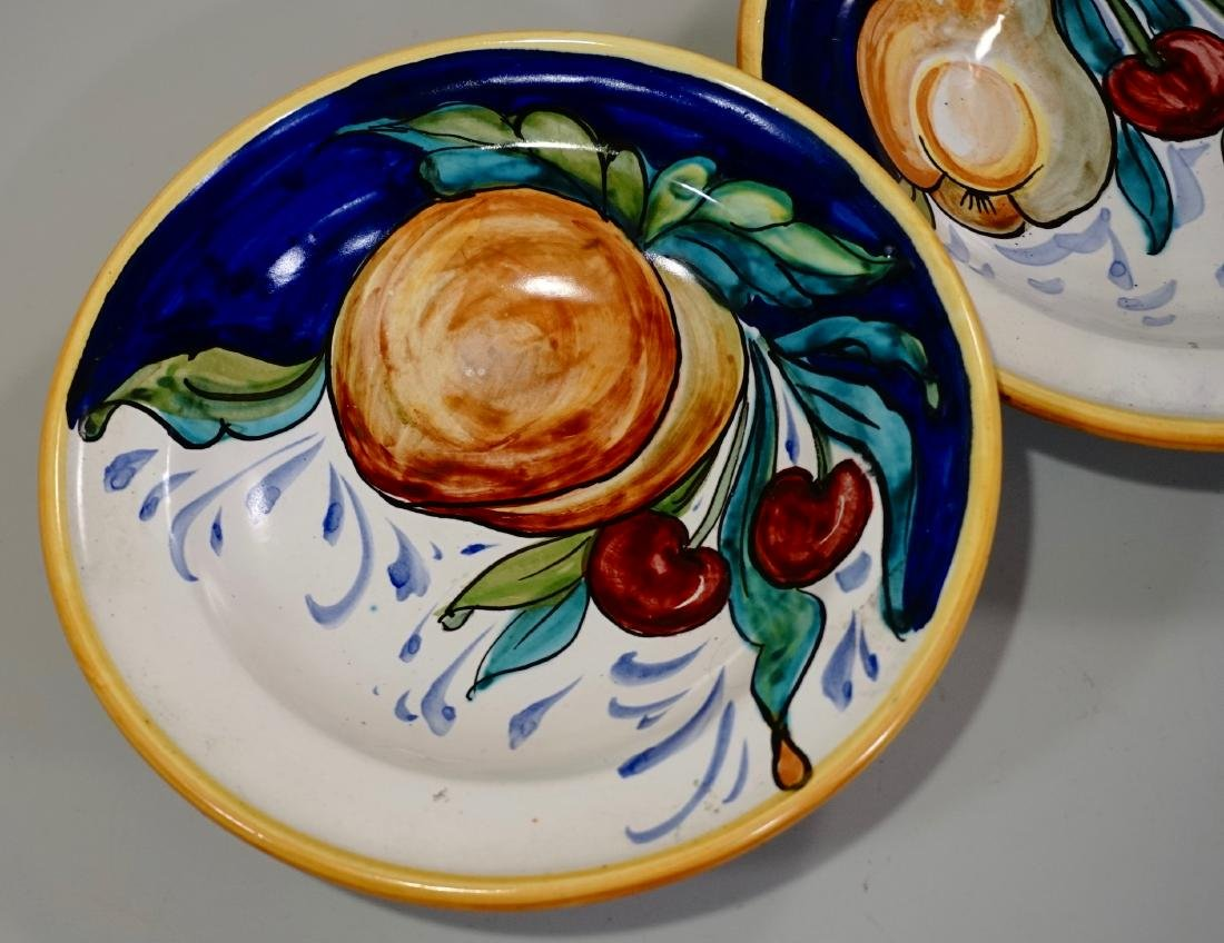 Italian Ceramic Hand Painted Bowl Wall Plaque Lot of 2 - 2