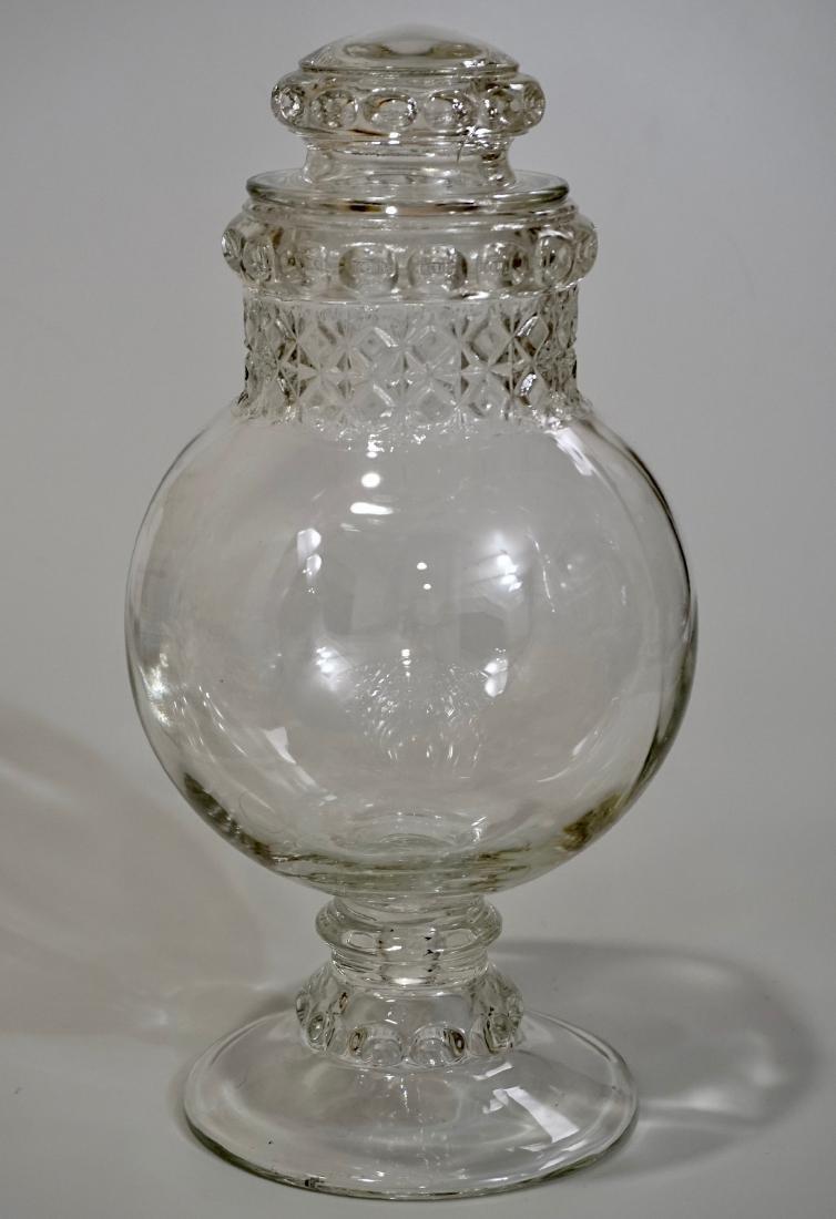 Antique Dakota Apothecary Glass Drug Store Counter