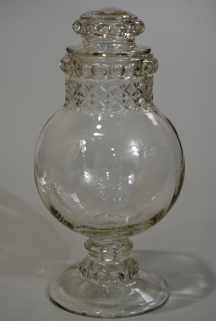Antique Dakota Apothecary Glass Drug Store Counter - 2