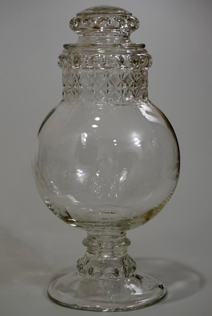 Antique Dakota Apothecary Glass Drug Store Counter - 3