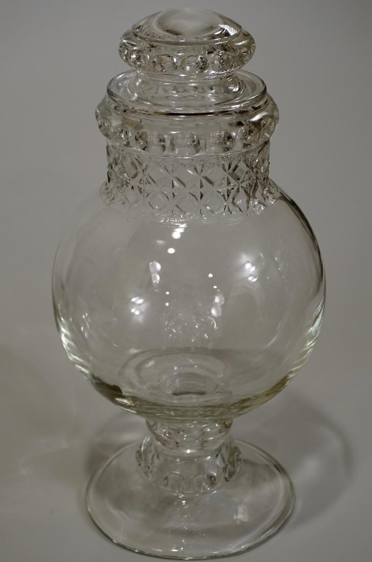 Antique Dakota Apothecary Glass Drug Store Counter - 4