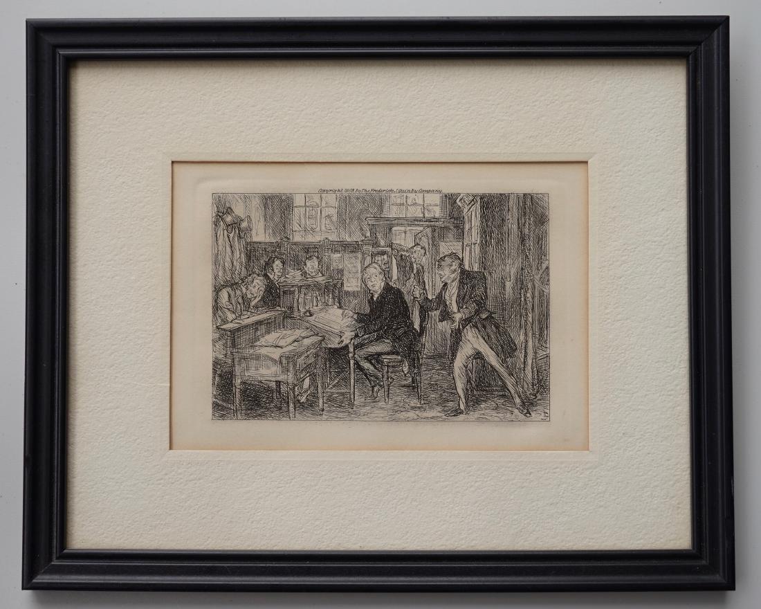 John Sloan Engraving Antique Print Copyright 1903