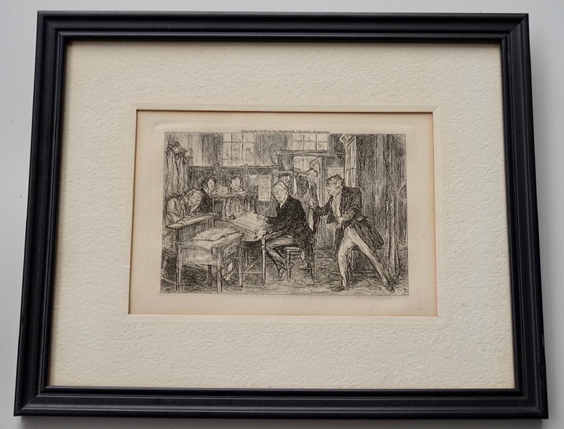 John Sloan Engraving Antique Print Copyright 1903 - 2