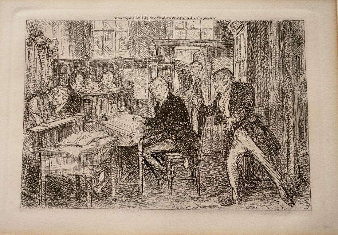 John Sloan Engraving Antique Print Copyright 1903 - 3