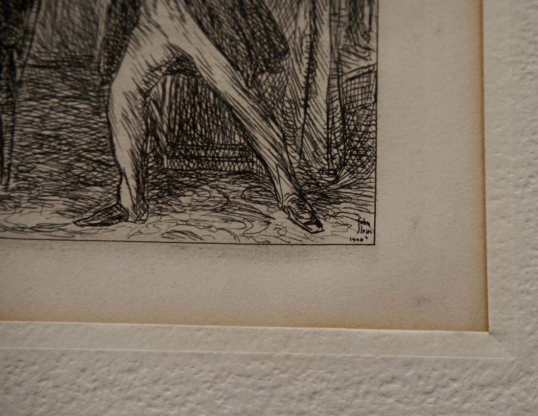 John Sloan Engraving Antique Print Copyright 1903 - 4