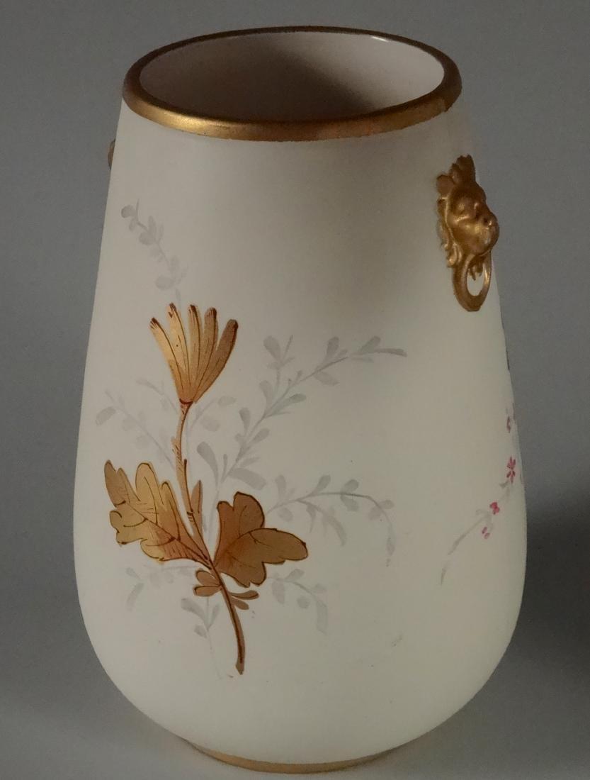 Crown Devon Gold Lion Masks Flower Vase - 3