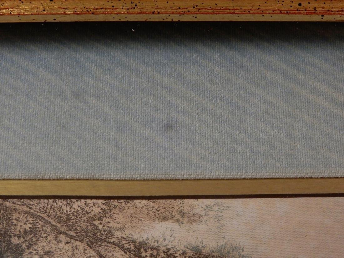Antique Colored French Rococo Engraving Shadow Box - 4