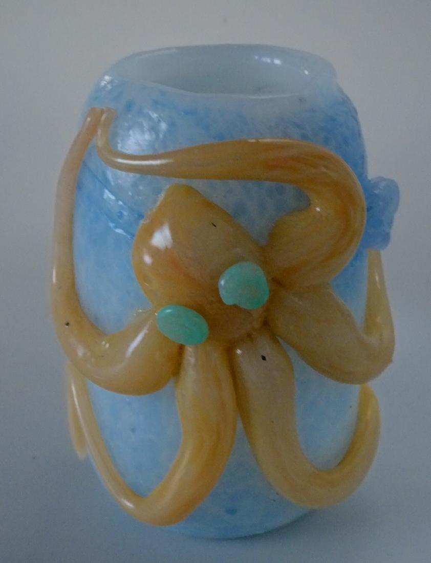 Mid Century Steampunk Maritime Octopus Studio Art Glass