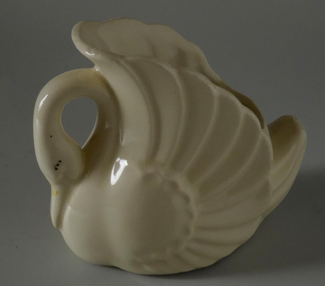 Old Vintage Authentic Art Deco Ceramic Swan Planter