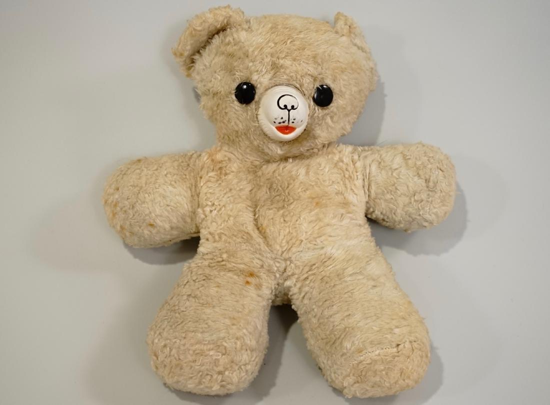 Vintage Gund Cubbi Stuffed Toy Teddy Bear Rubber Nose