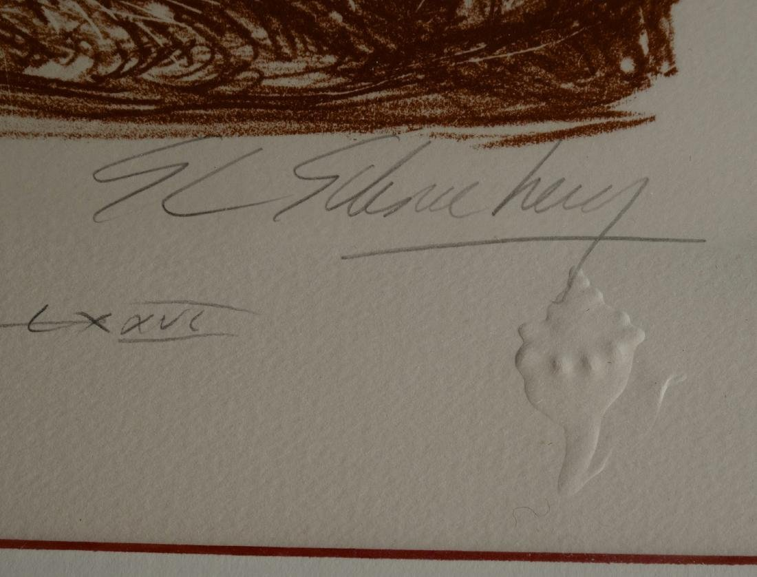 Vintage Limited Sepia Etching Signed Shelly Print Gold - 3