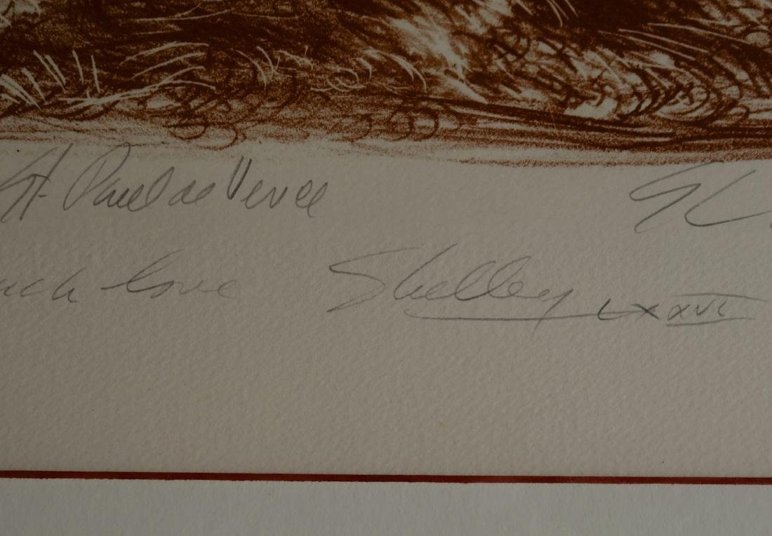 Vintage Limited Sepia Etching Signed Shelly Print Gold - 5
