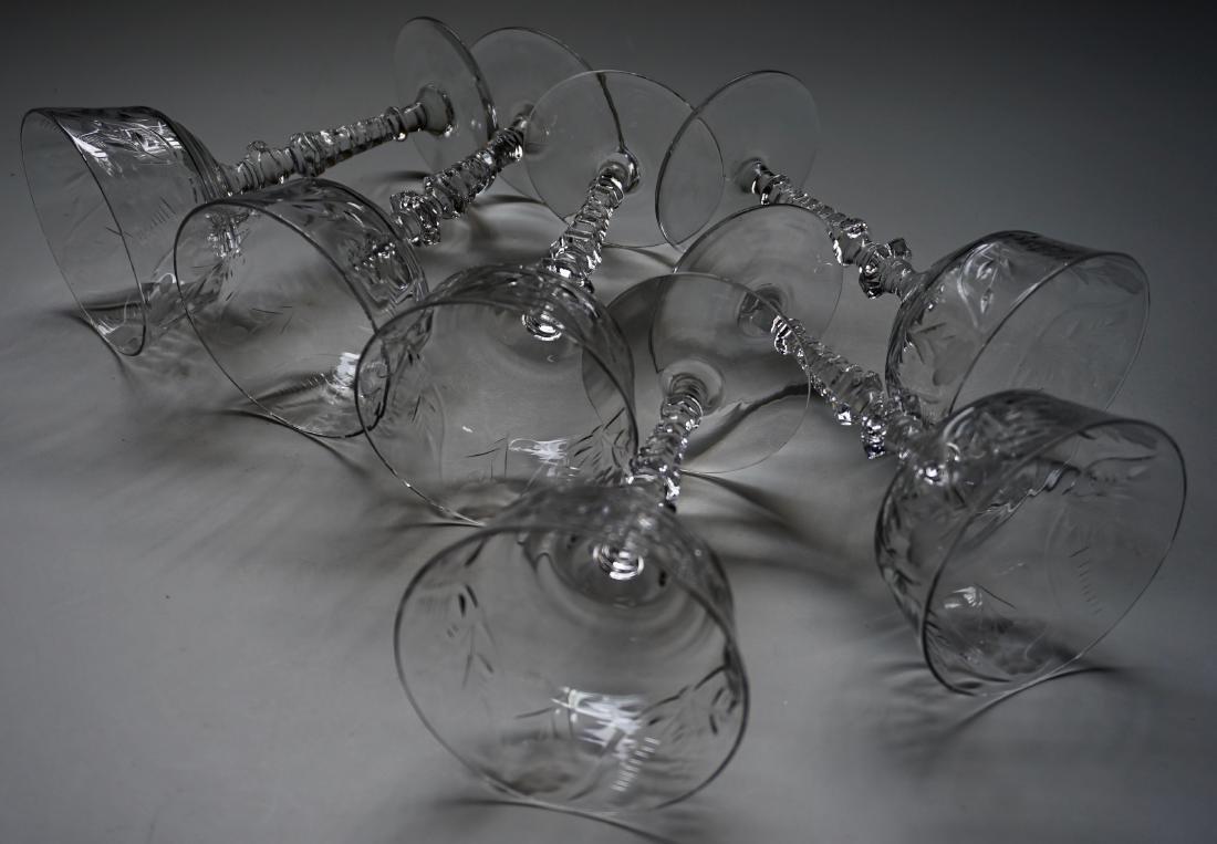 Vintage Rock Crystal Stemware Libbey Cocktail Glasses - 5