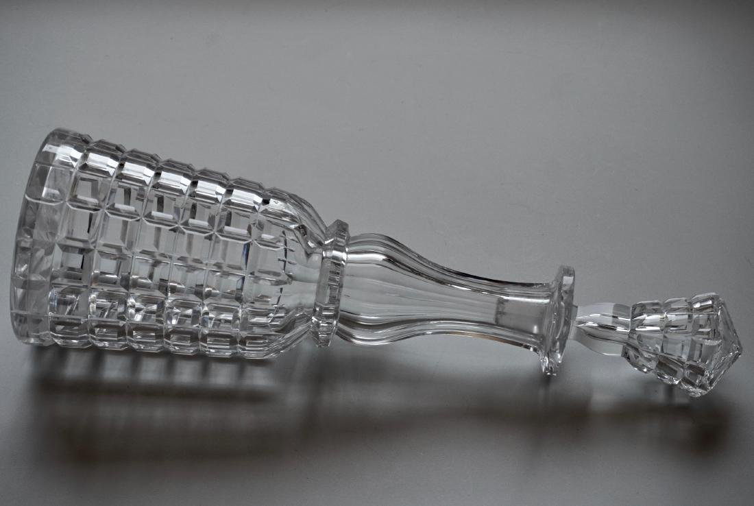 Antique Cut Glass Crystal Decanter - 10
