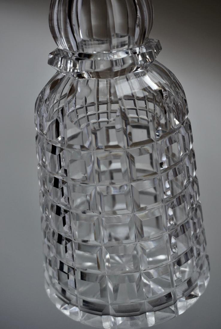 Antique Cut Glass Crystal Decanter - 6