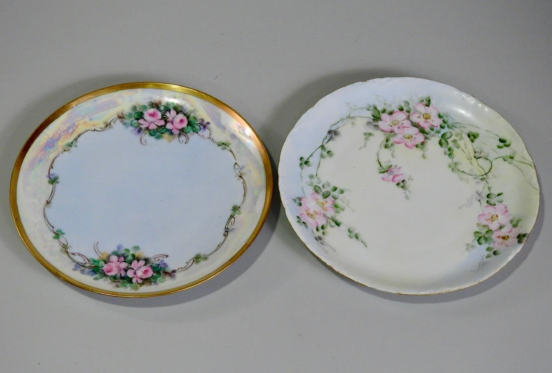 Antique Hand Painted Porcelain Plates Including