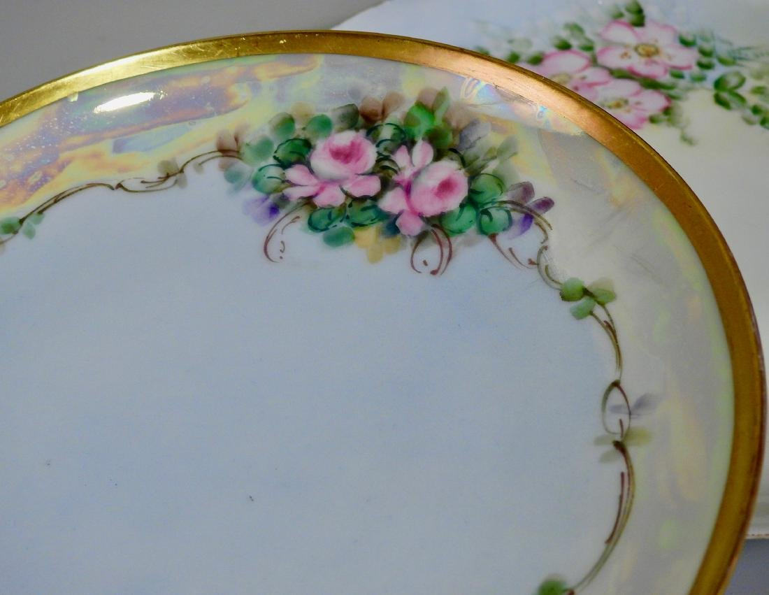 Antique Hand Painted Porcelain Plates Including - 2