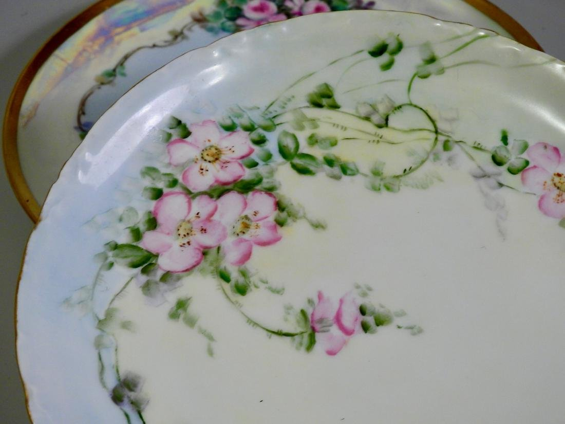 Antique Hand Painted Porcelain Plates Including - 3