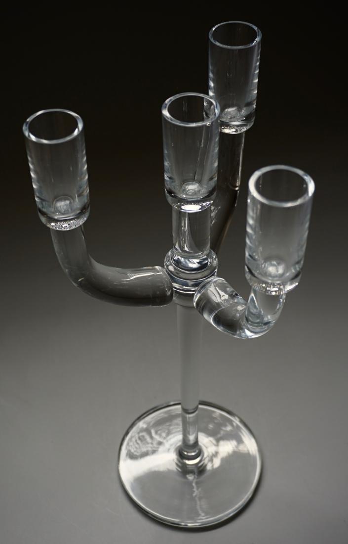 Modernist Glass Candelabra