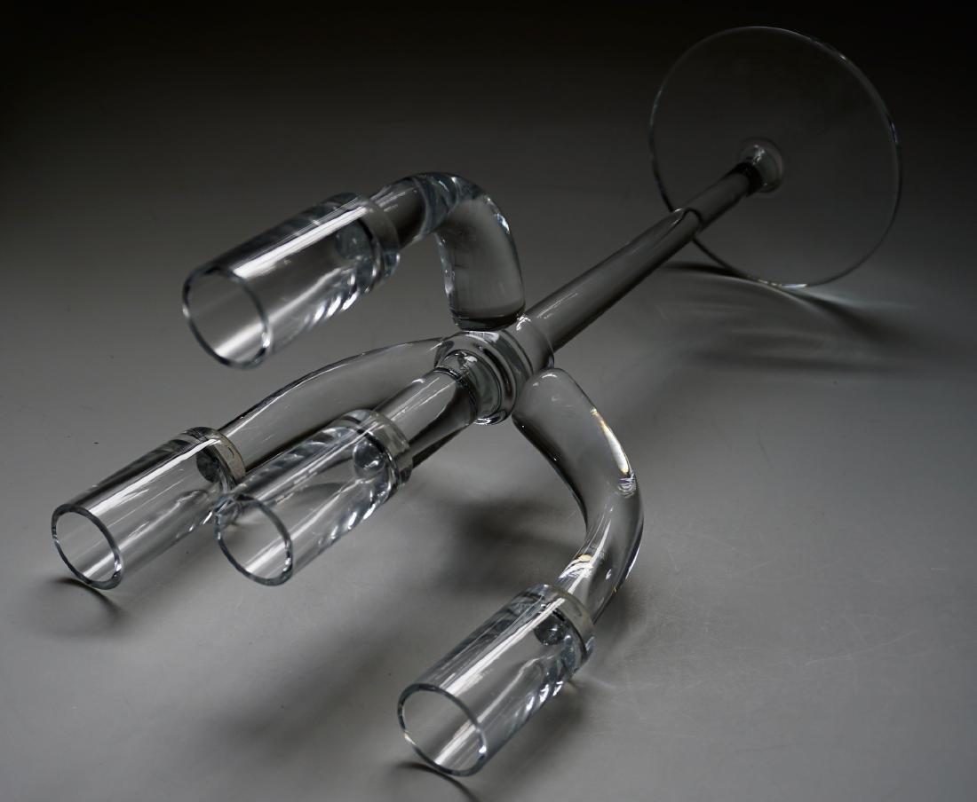 Modernist Glass Candelabra - 6