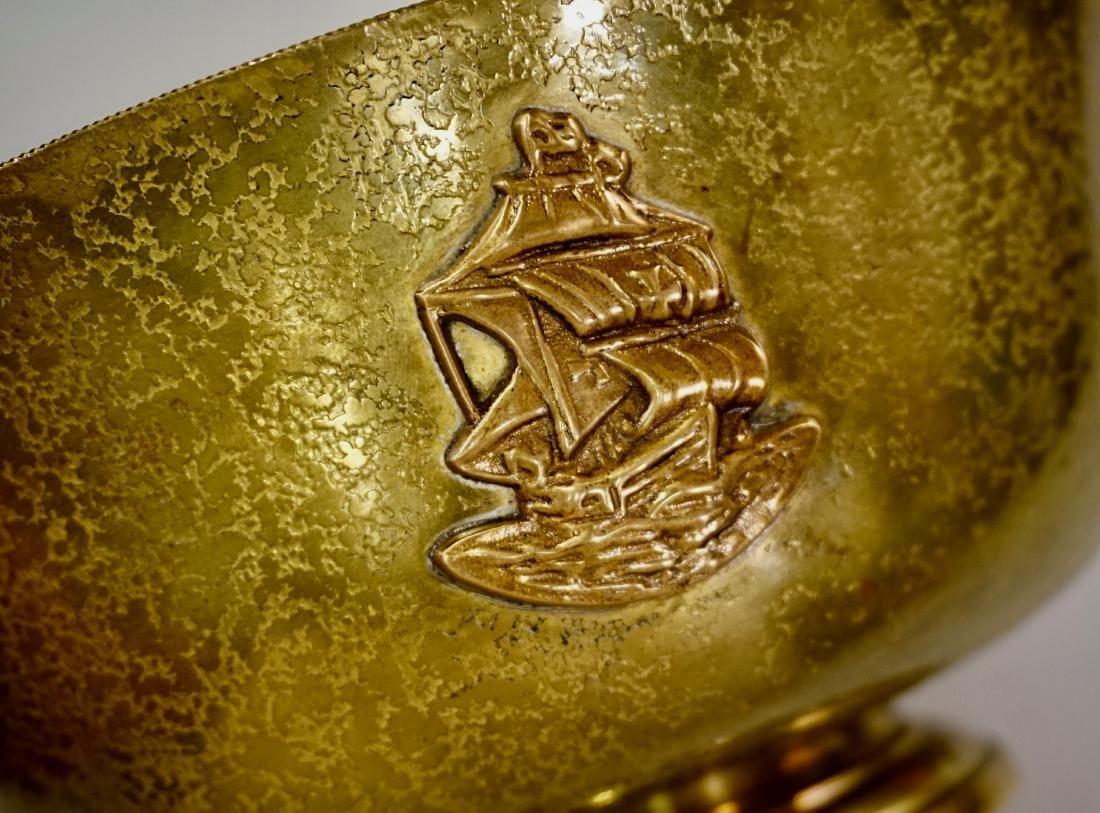Antique Tiffany Bowl Furnaces Favrile Bronze Ship - 3