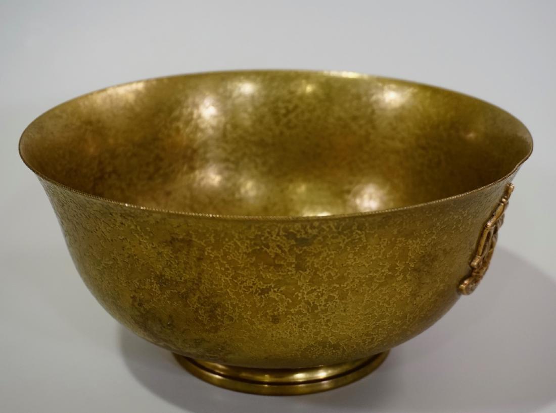 Antique Tiffany Bowl Furnaces Favrile Bronze Ship - 4