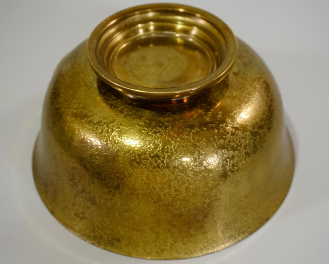 Antique Tiffany Bowl Furnaces Favrile Bronze Ship - 6