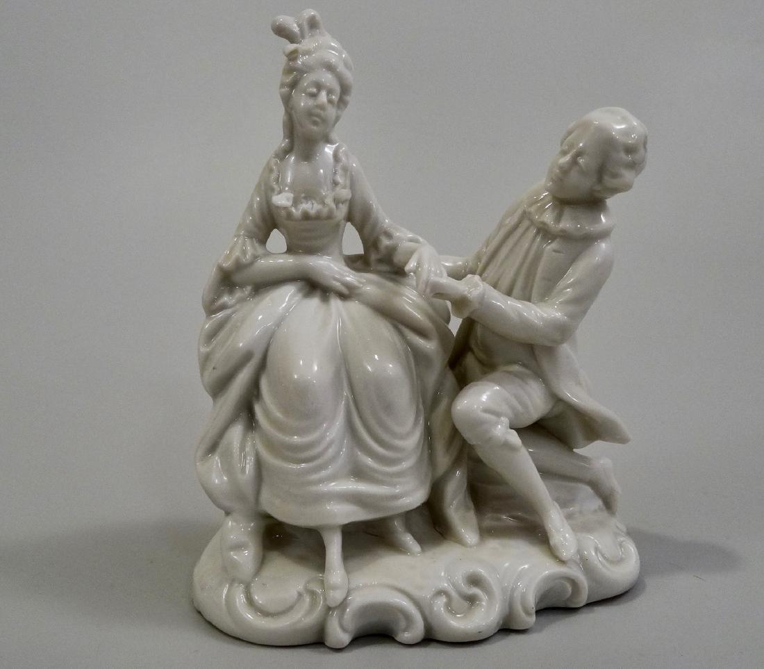 White Glazed Saxon Porcelain Figurine Potschappel