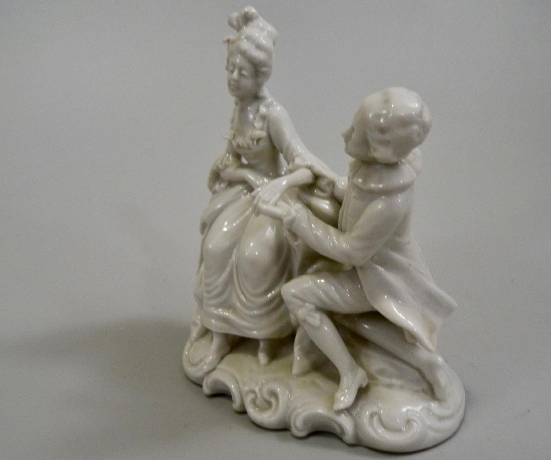 White Glazed Saxon Porcelain Figurine Potschappel - 2