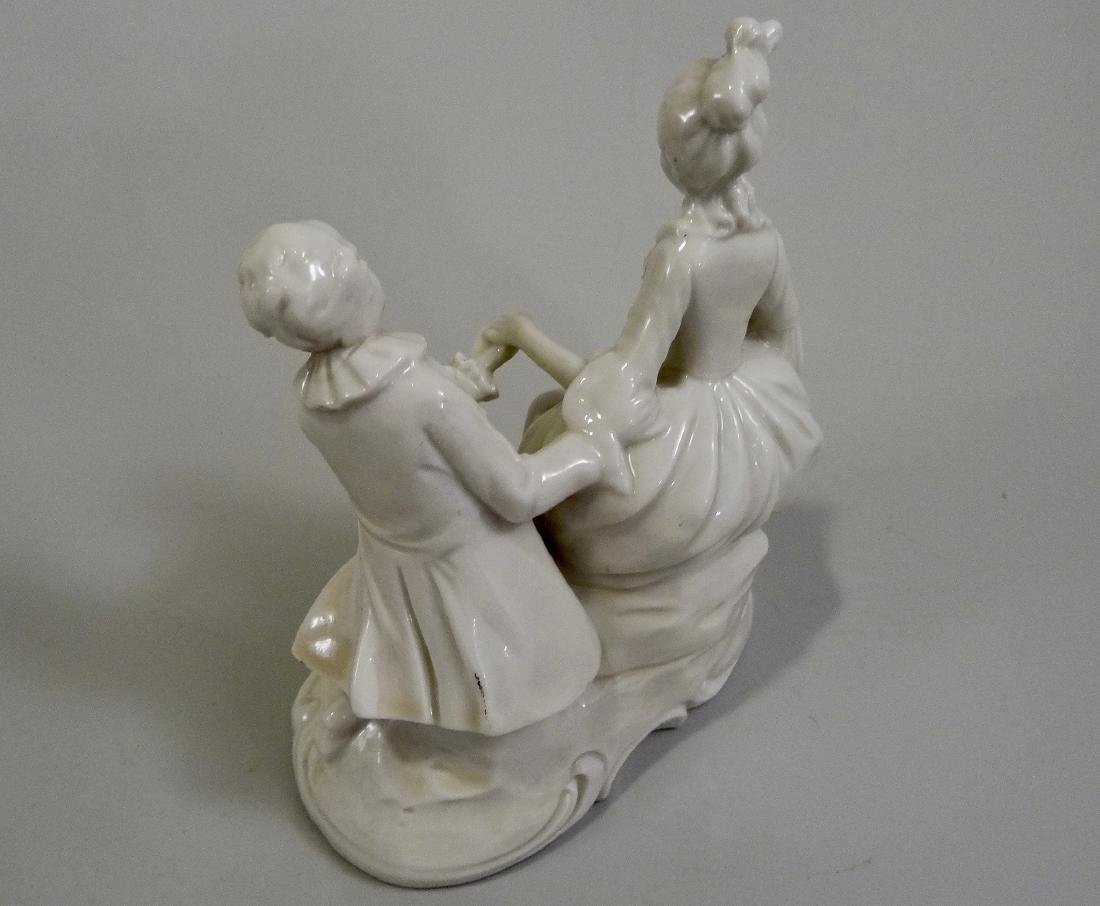 White Glazed Saxon Porcelain Figurine Potschappel - 3