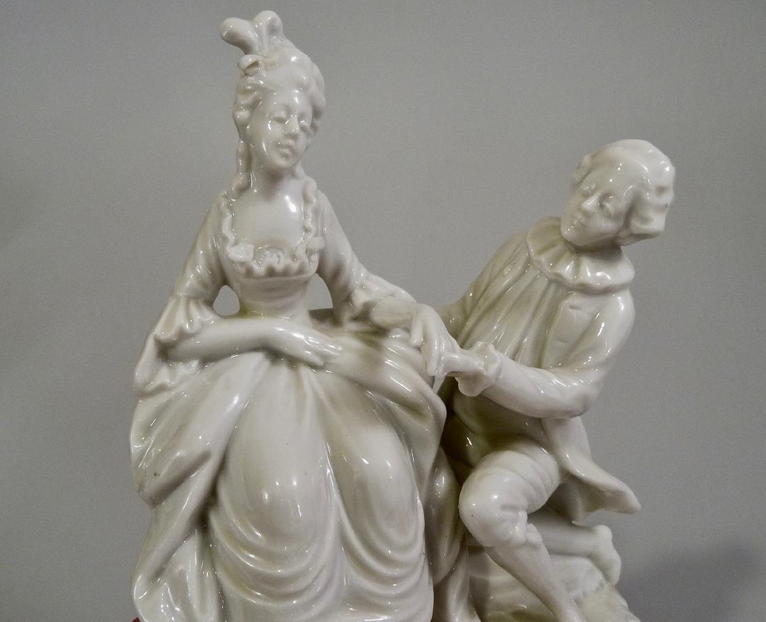 White Glazed Saxon Porcelain Figurine Potschappel - 5