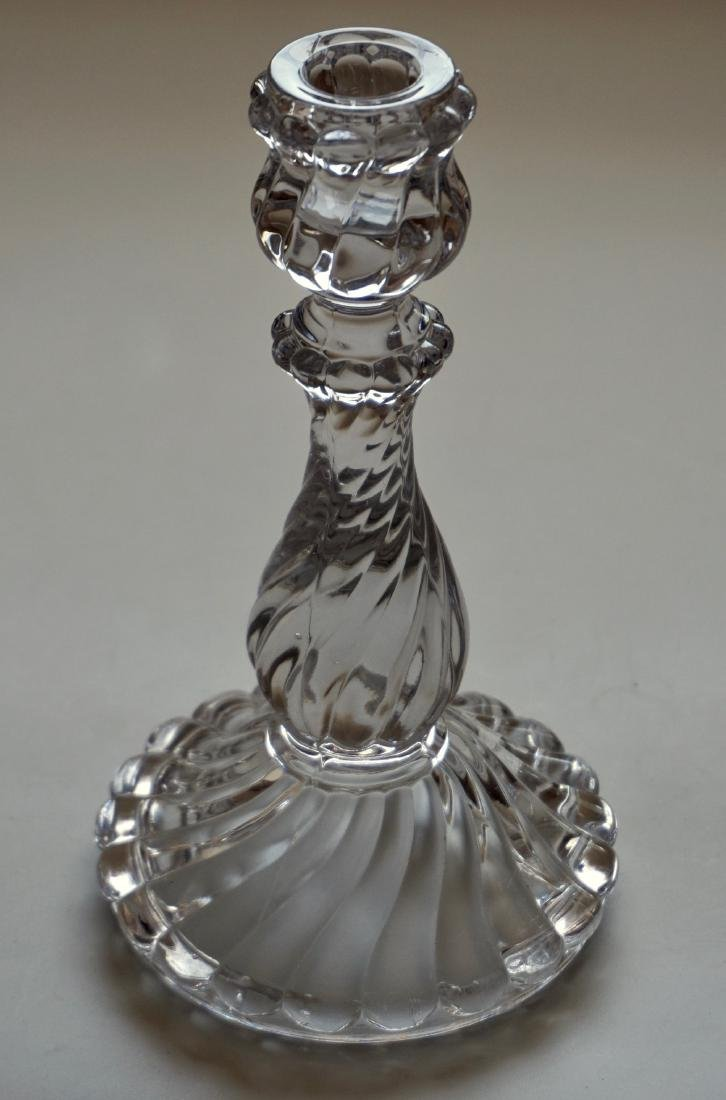 Antique Twisted Glass Candlestick Candleholder