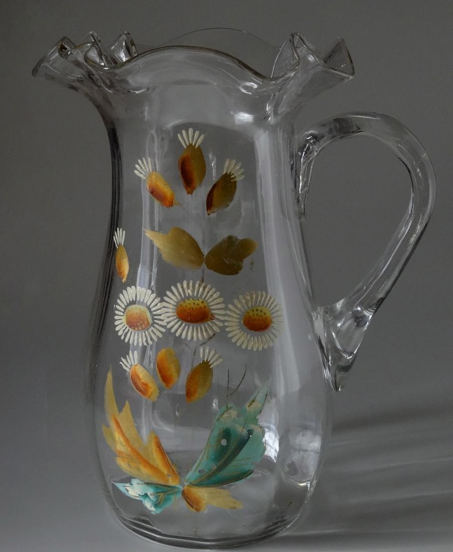 Early 20th Century Vintage Water Lemonade Pitcher Ponti