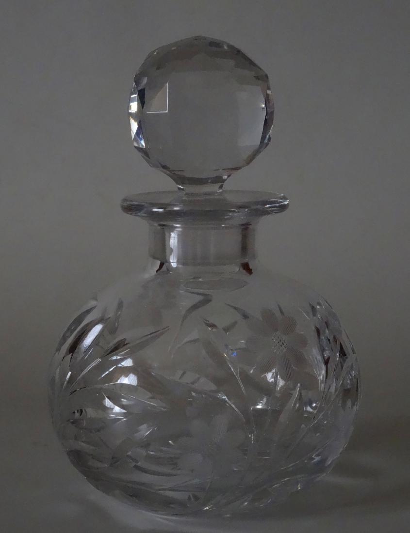 Large Cut Lead Crystal Perfume Bottle
